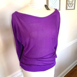 EXPRESS NWT size Small Purple Sweater Long Sleeves